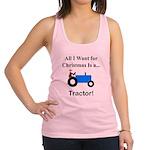 Blue Christmas Tractor Racerback Tank Top
