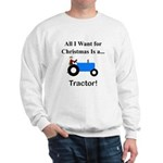 Blue Christmas Tractor Sweatshirt