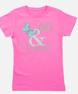 60th Birthday Butterfly Girl's Tee