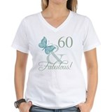 60th birthday Womens V-Neck T-shirts