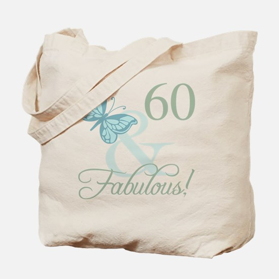 60th Birthday Butterfly Tote Bag