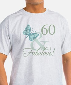 60th Birthday Butterfly T-Shirt