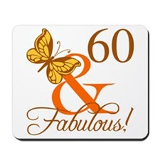 60th Birthday Butterfly Mousepad