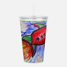 Rocket, fun art Acrylic Double-wall Tumbler