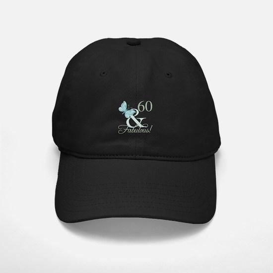 60th Birthday Butterfly Baseball Hat