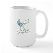 60th Birthday Butterfly Mugs