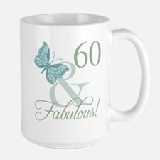 60th Birthday Butterfly Mugs
