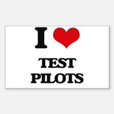 I love Test Pilots Decal