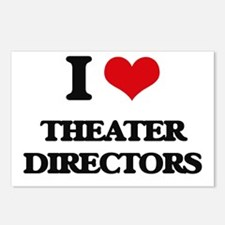 I love Theater Directors Postcards (Package of 8)