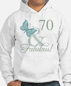 70th Birthday Butterfly Hoodie
