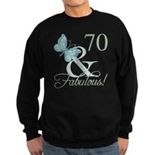 70th Birthday Butterfly Sweatshirt