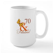 70th Birthday Butterfly Mug