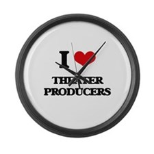 I love Theater Producers Large Wall Clock