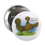 Golden Polish Fowl Button