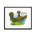 Golden Polish Fowl Framed Panel Print