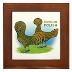 Golden Polish Fowl Framed Tile