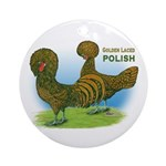 Golden Polish Fowl Ornament (Round)
