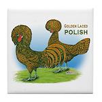 Golden Polish Fowl Tile Coaster