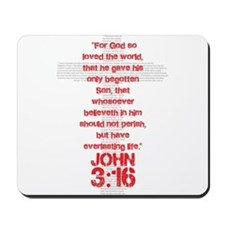 John 3:16 Cross Mousepad
