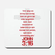 John 3:16 Cross Mousepad