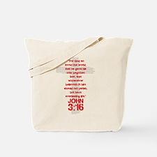 John 3:16 Cross Tote Bag