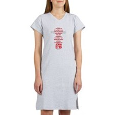 John 3:16 Cross Women's Nightshirt