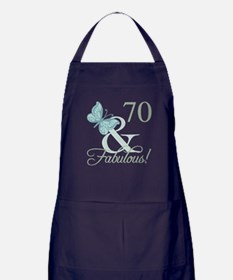 70th Birthday Butterfly Apron (dark)