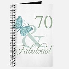 70th Birthday Butterfly Journal