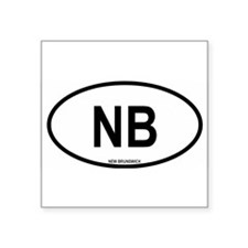 "Cute North america Square Sticker 3"" x 3"""