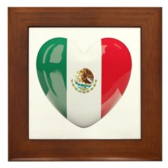 My Mexican Heart Framed Tile