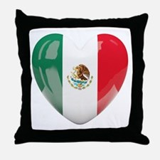 My Mexican Heart Throw Pillow