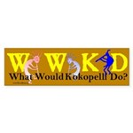 What Would Kokopelli Do? Bumper Sticker