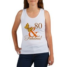 80th Birthday Butterfly Women's Tank Top