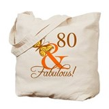 80 birthday Canvas Bags