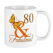 80th Birthday Butterfly Mug