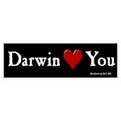 Darwin (heart) You - Bumper Bumper Sticker