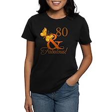 80th Birthday Butterfly T-Shirt