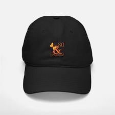 80th Birthday Butterfly Baseball Hat