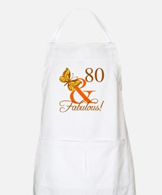 80th Birthday Butterfly Apron