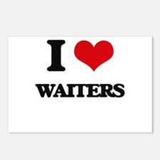 I love Waiters Postcards (Package of 8)