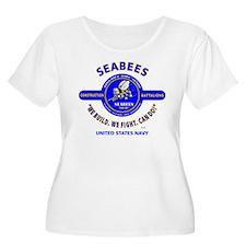 """SEABEES UNITED STATES NAVY """"WE B Plus Size T-Shirt"""