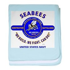 "SEABEES UNITED STATES NAVY ""WE BUILD, baby blanket"