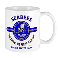 "SEABEES UNITED STATES NAVY ""WE BUILD, WE FIGH Mugs"