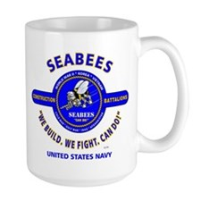 "SEABEES UNITED STATES NAVY ""WE BUILD, WE FIGH Mugs"