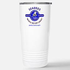 SEABEES UNITED STATES N Stainless Steel Travel Mug