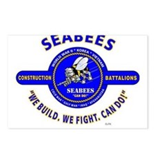 SEABEES UNITED STATES NAV Postcards (Package of 8)