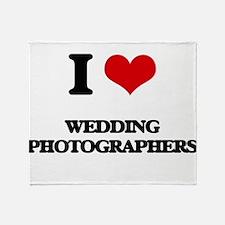 I love Wedding Photographers Throw Blanket