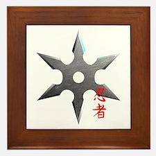 Ninja Throwing Star Framed Tile