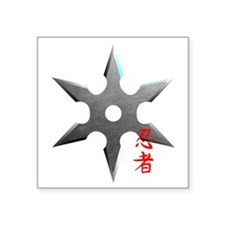 Ninja Throwing Star Sticker