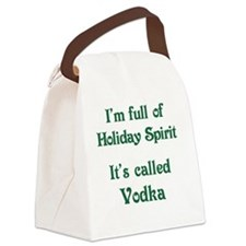 Funny Holiday Spirit Canvas Lunch Bag